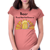 Awesome Beer Lover's Mug and Sun Rays Art Womens Fitted T-Shirt