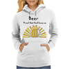 Awesome Beer Lover's Mug and Sun Rays Art Womens Hoodie