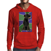 Awesome Black Labrador Retriever Dog Abstract Art Mens Hoodie