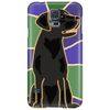 Awesome Black Labrador Retriever Dog Abstract Art Phone Case