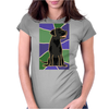 Awesome Black Labrador Retriever Dog Abstract Art Womens Fitted T-Shirt