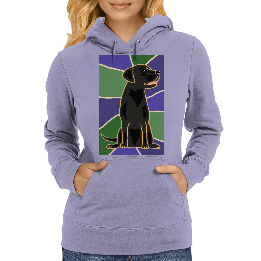 Awesome Black Labrador Retriever Dog Abstract Art Womens Hoodie