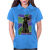 Awesome Black Labrador Retriever Dog Abstract Art Womens Polo