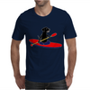 Awesome Black Labrador Retriever Dog Kayaking Mens T-Shirt