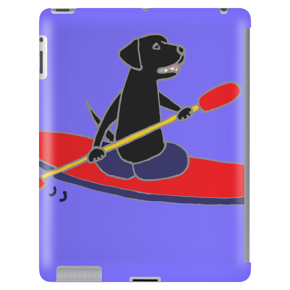 Awesome Black Labrador Retriever Dog Kayaking Tablet