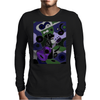 Awesome Black Labrador Retriever Dog Playing Guitar Art Mens Long Sleeve T-Shirt