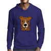 Awesome Brown and White Pitbull Puppy Dog Art Mens Hoodie