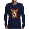 Awesome Brown and White Pitbull Puppy Dog Art Mens Long Sleeve T-Shirt