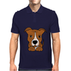 Awesome Brown and White Pitbull Puppy Dog Art Mens Polo