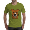 Awesome Brown and White Pitbull Puppy Dog Art Mens T-Shirt