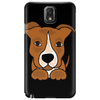 Awesome Brown and White Pitbull Puppy Dog Art Phone Case