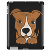 Awesome Brown and White Pitbull Puppy Dog Art Tablet