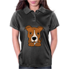 Awesome Brown and White Pitbull Puppy Dog Art Womens Polo