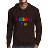 Awesome Colorful Pickleball Letters and Paddle Art Original Mens Hoodie