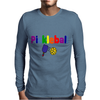 Awesome Colorful Pickleball Letters and Paddle Art Original Mens Long Sleeve T-Shirt