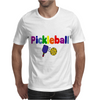Awesome Colorful Pickleball Letters and Paddle Art Original Mens T-Shirt
