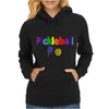 Awesome Colorful Pickleball Letters and Paddle Art Original Womens Hoodie
