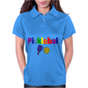 Awesome Colorful Pickleball Letters and Paddle Art Original Womens Polo