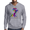 Awesome Colorful Rearing Horse Abstract Art Mens Hoodie