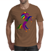 Awesome Colorful Rearing Horse Abstract Art Mens T-Shirt