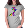 Awesome Colorful Rearing Horse Abstract Art Womens Fitted T-Shirt