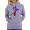 Awesome Colorful Rearing Horse Abstract Art Womens Hoodie