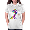 Awesome Colorful Rearing Horse Abstract Art Womens Polo