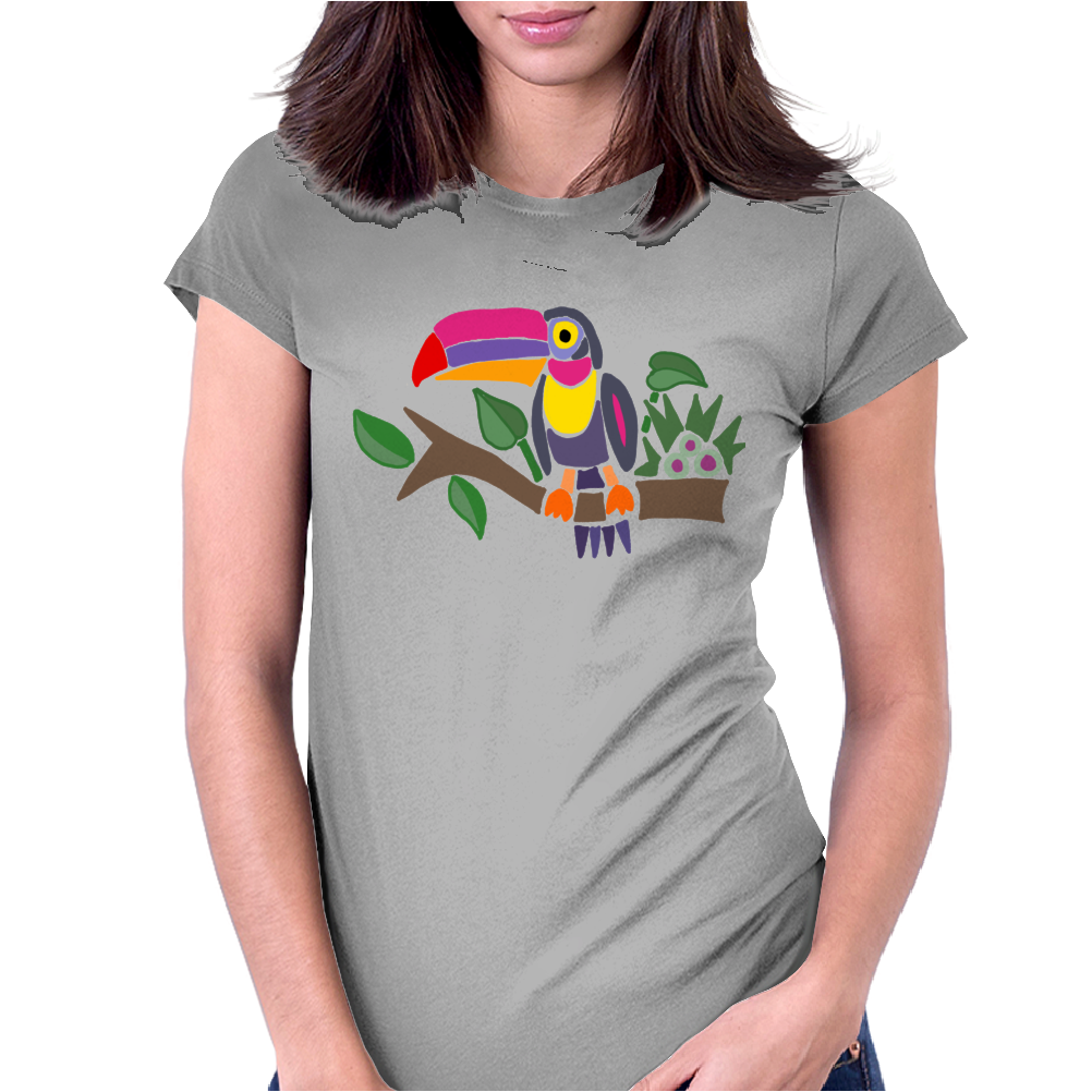 Awesome Colorful Toucan Bird Abstract Art Womens Fitted T-Shirt