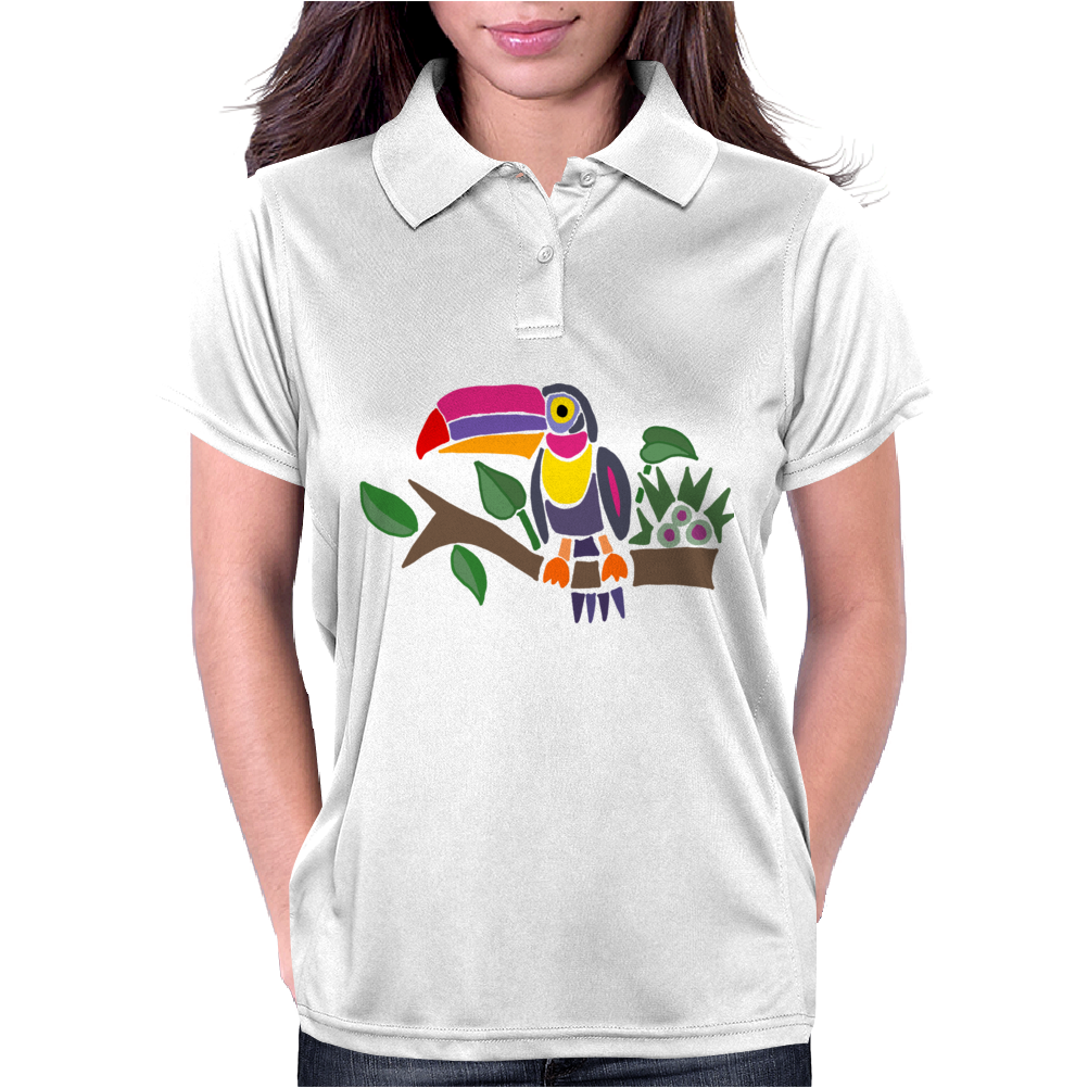 Awesome Colorful Toucan Bird Abstract Art Womens Polo