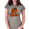 Awesome Cool and Funky Walrus Wearing Sunglasses Womens Fitted T-Shirt