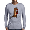Awesome Cool Funny Otter Playing Saxophone Mens Long Sleeve T-Shirt