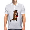 Awesome Cool Funny Otter Playing Saxophone Mens Polo