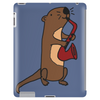 Awesome Cool Funny Otter Playing Saxophone Tablet