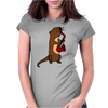 Awesome Cool Funny Otter Playing Saxophone Womens Fitted T-Shirt