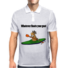 Awesome Cool Kayaking Goat Mens Polo