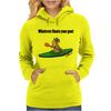 Awesome Cool Kayaking Goat Womens Hoodie