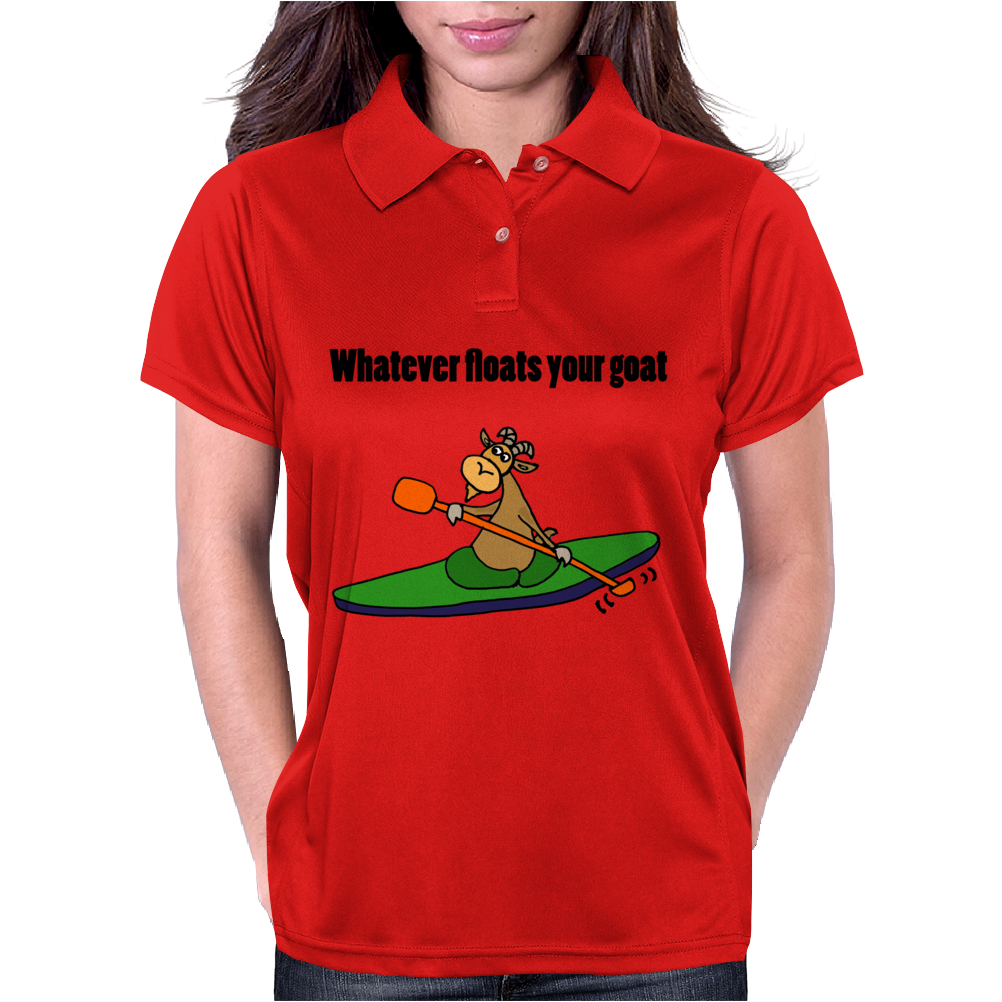 Awesome Cool Kayaking Goat Womens Polo