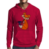 Awesome Cool Red Fox with Saxophone Mens Hoodie