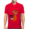 Awesome Cool Red Fox with Saxophone Mens Polo