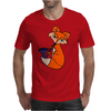 Awesome Cool Red Fox with Saxophone Mens T-Shirt