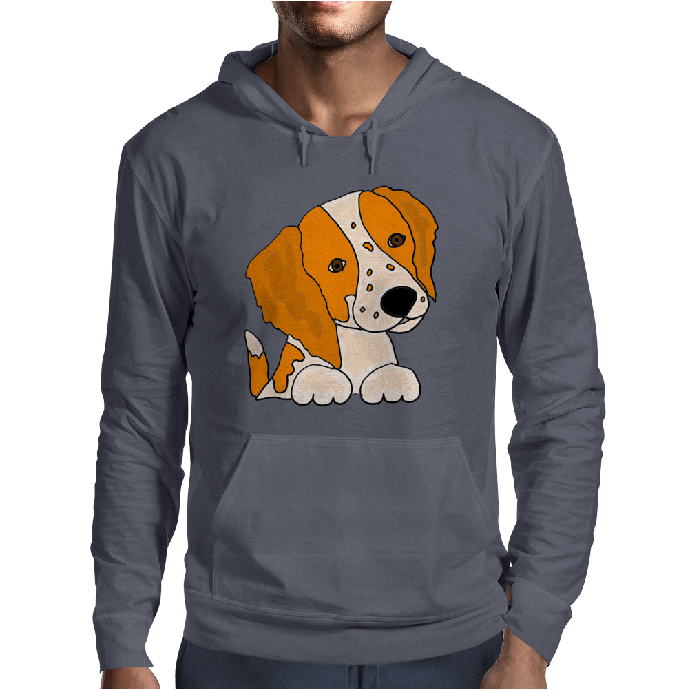 Awesome Cute Brittany Spaniel Puppy Dog Art Mens Hoodie