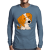 Awesome Cute Brittany Spaniel Puppy Dog Art Mens Long Sleeve T-Shirt