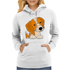 Awesome Cute Brittany Spaniel Puppy Dog Art Womens Hoodie