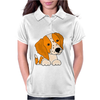 Awesome Cute Brittany Spaniel Puppy Dog Art Womens Polo