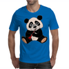 Awesome Cute Funny Panda Bear Playing Clarinet Mens T-Shirt