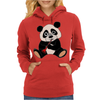 Awesome Cute Funny Panda Bear Playing Clarinet Womens Hoodie