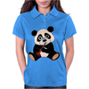 Awesome Cute Funny Panda Bear Playing Clarinet Womens Polo