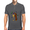 Awesome Dachshund Puppy Dog Drinkling from Champagne Glass Mens Polo