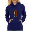 Awesome Dachshund Puppy Dog Drinkling from Champagne Glass Womens Hoodie