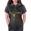Awesome Dachshund Puppy Dog Drinkling from Champagne Glass Womens Polo